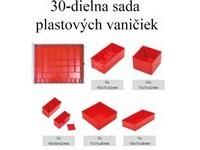 30-dielna sada plastových organizérov