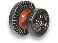 Pojazdová kladka XL-V400-20/75 na fúrik RENOSTs červeným diskom, plné gumové koleso
