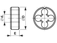 Očko závitové 3210 NO 6g M12x1