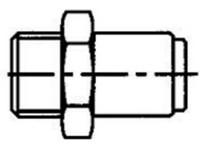 Koncovka s vonkajším závitom G 1/4 LAPF M1/4 SKF
