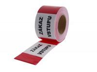 Páska výstražná bielo-červená 250m ZÁKAZ VSTUPU