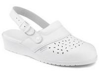 Obuv sandále 030052 pracovné biele dámske