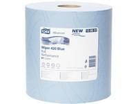 Utierka papierová priemyselná TORK W1 420 modrá 2vr.