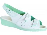 Obuv sandále 5-980010 dámske otvorená špica perforované biele