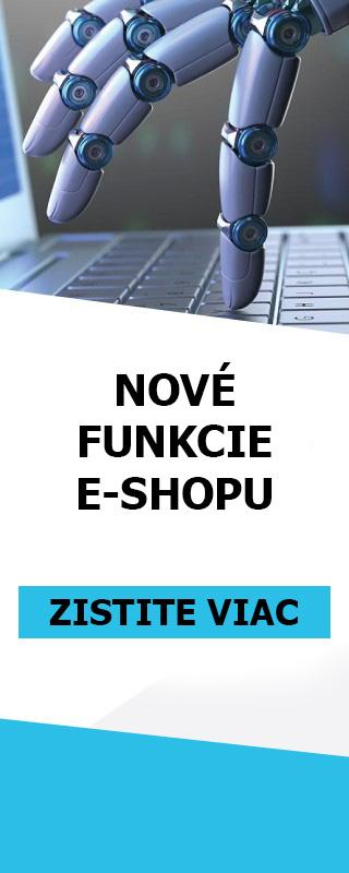 NOVÉ FUNKCIONALITY E-SHOPU